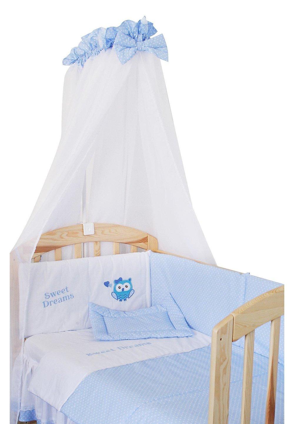 Baldachin patut, albastru cu buline albe, 300 x 160 cm imagine