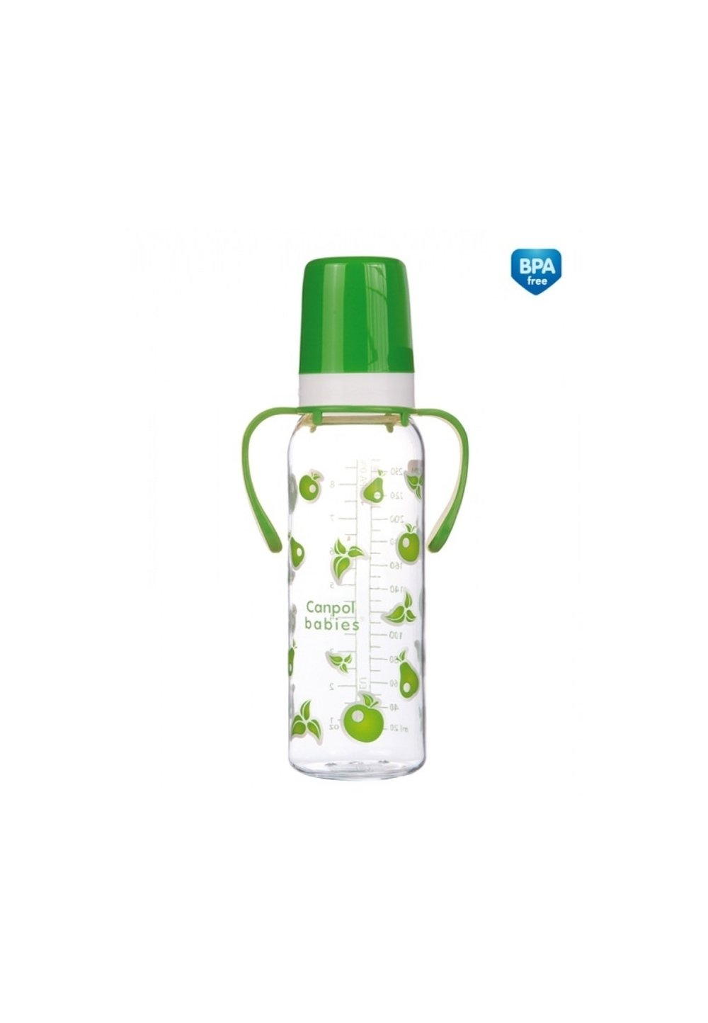Biberon Canpol, cu maner, 12luni, verde, 250 ml imagine