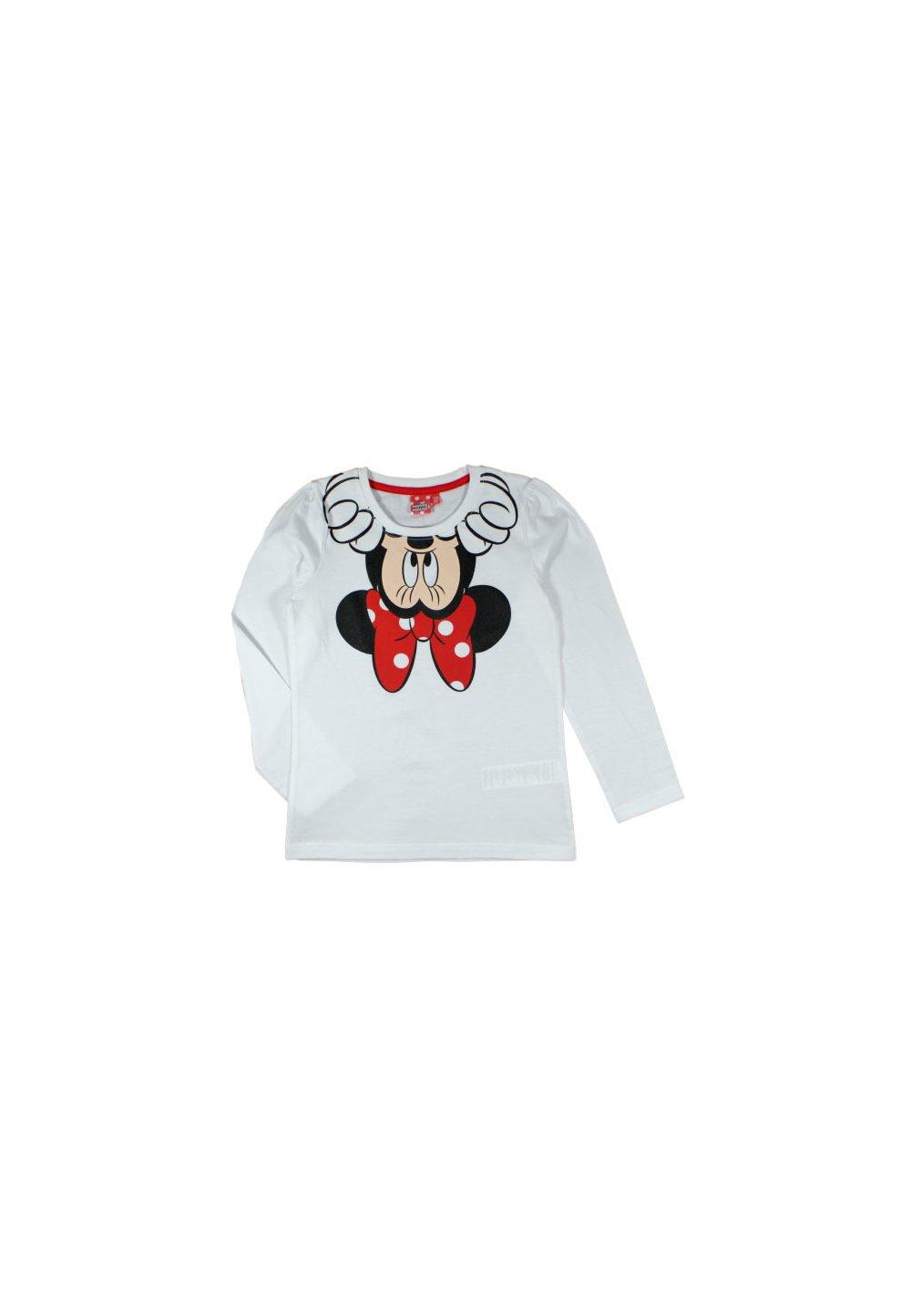 Bluza alba, Minnie Mouse cu fundita rosie imagine