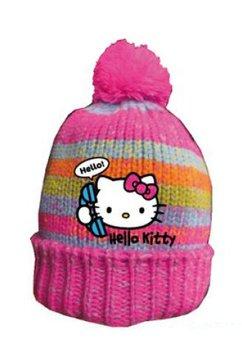 Caciula Hello Kitty, roz inchis