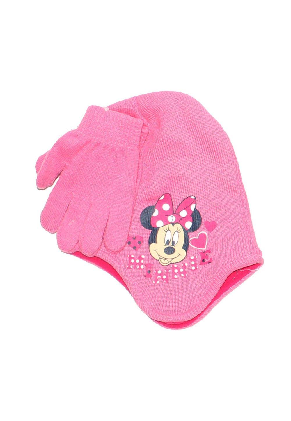 Caciula si manusi, Minnie Mouse, roz imagine