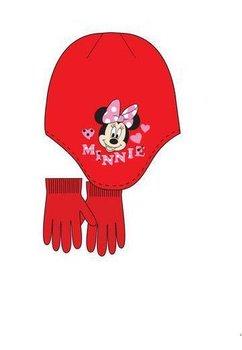 Caciula si manusi, Minnie Mouse, rosii
