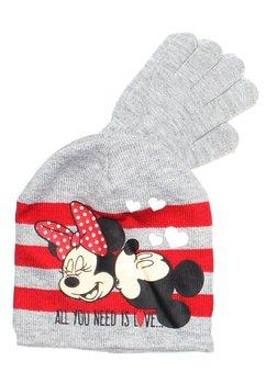 Caciula si manusi, Minnie si Mickey, gri