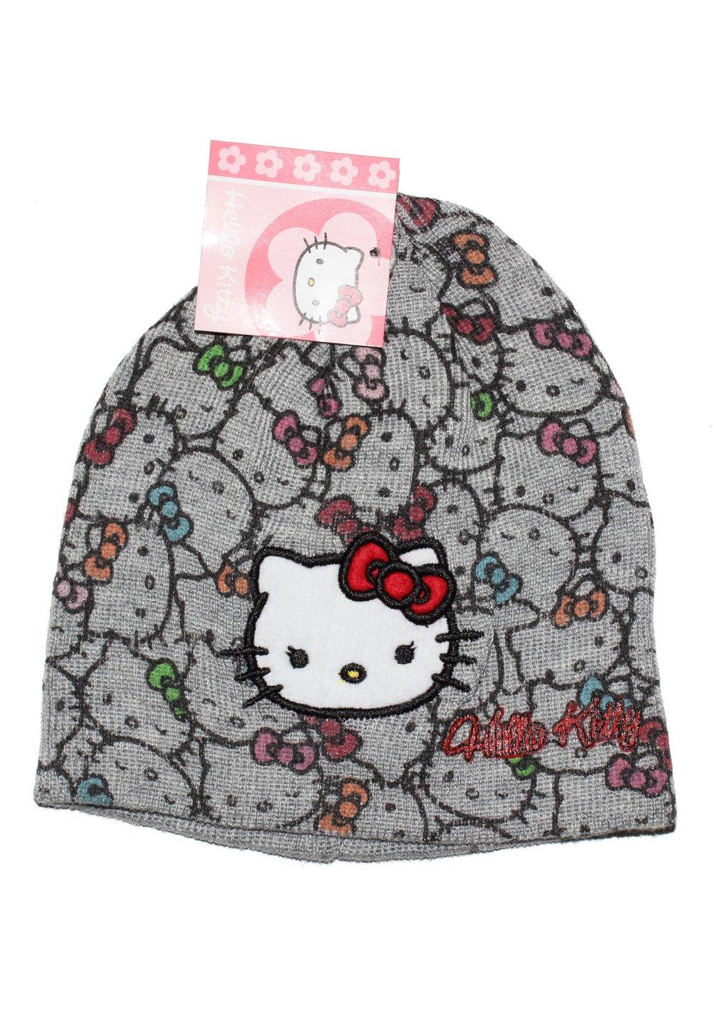 Caciula tricotata Hello Kitty gri imagine