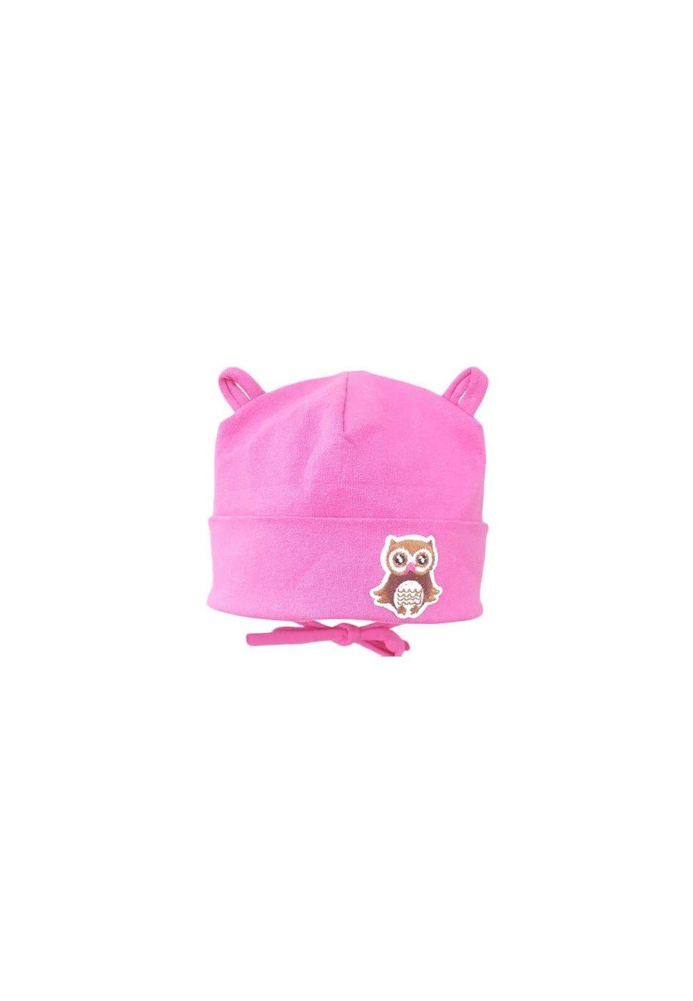 Caciulita, roz cu bufnita imagine