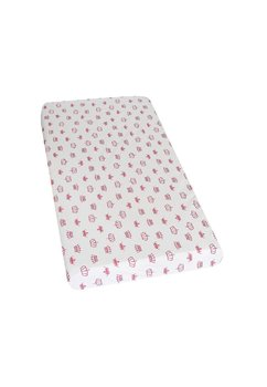 Cearceaf bumbac , coronite roz inchis, 120 x 60 cm