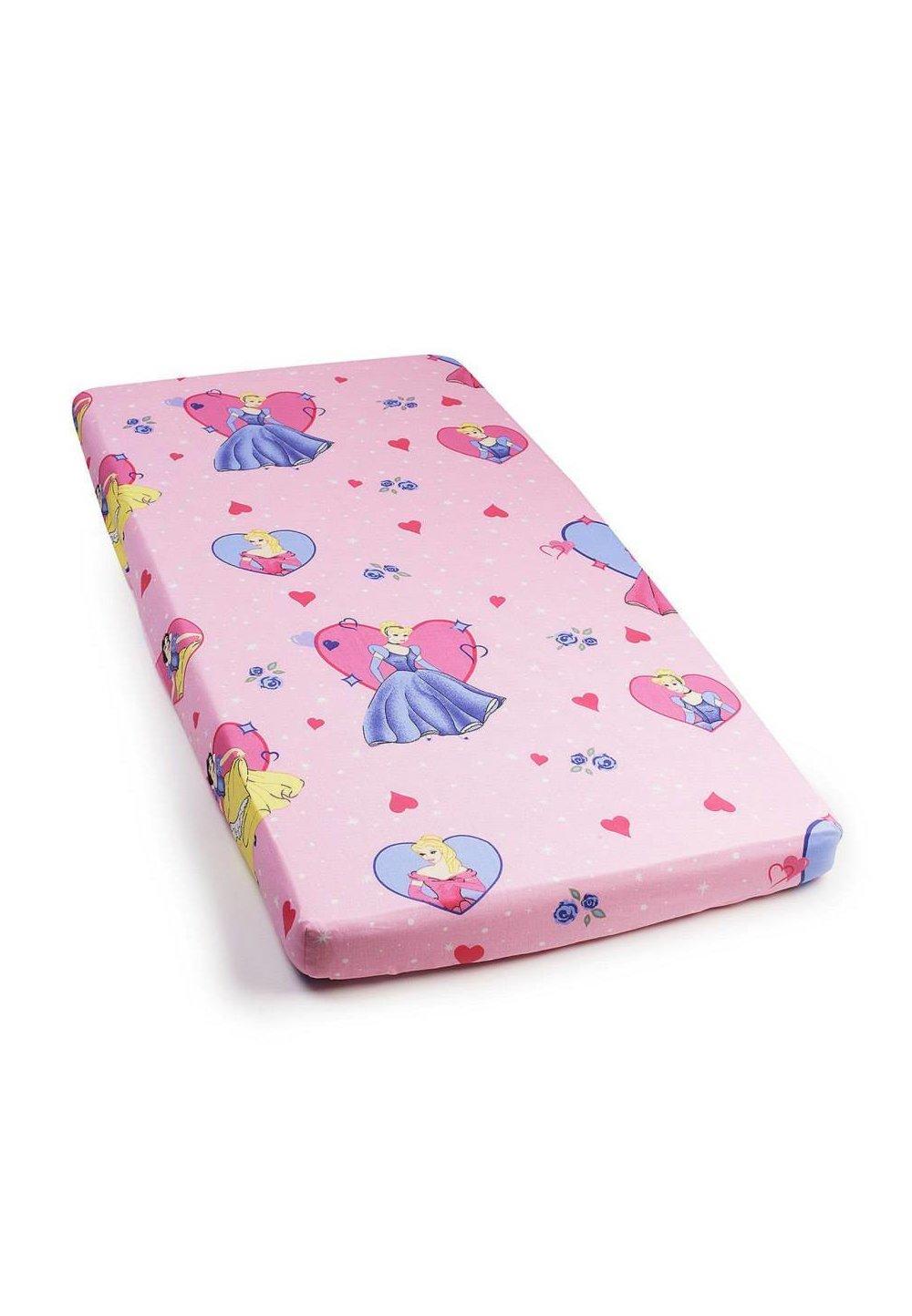 Cearceaf bumbac Printese, roz,120 X 60 cm imagine