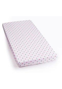 Cearceaf cu elastic 120x60cm stelute roz