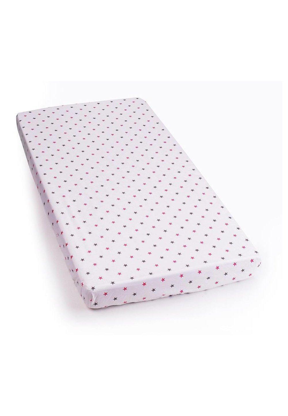 Cearceaf cu elastic 120x60cm stelute roz imagine