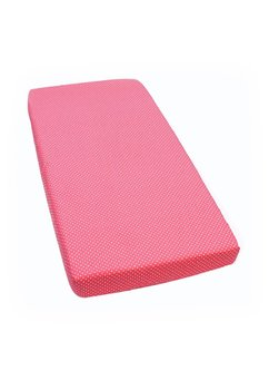 Cearceaf cu elastic, Pink with dots, 120 x 60 cm