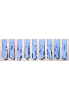 Cearceaf patut cu volanas, albastru, 120x60 cm