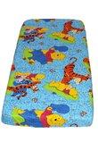 Cearceaf patut, Winnie si Aiurel, albastru 120 x 60 cm