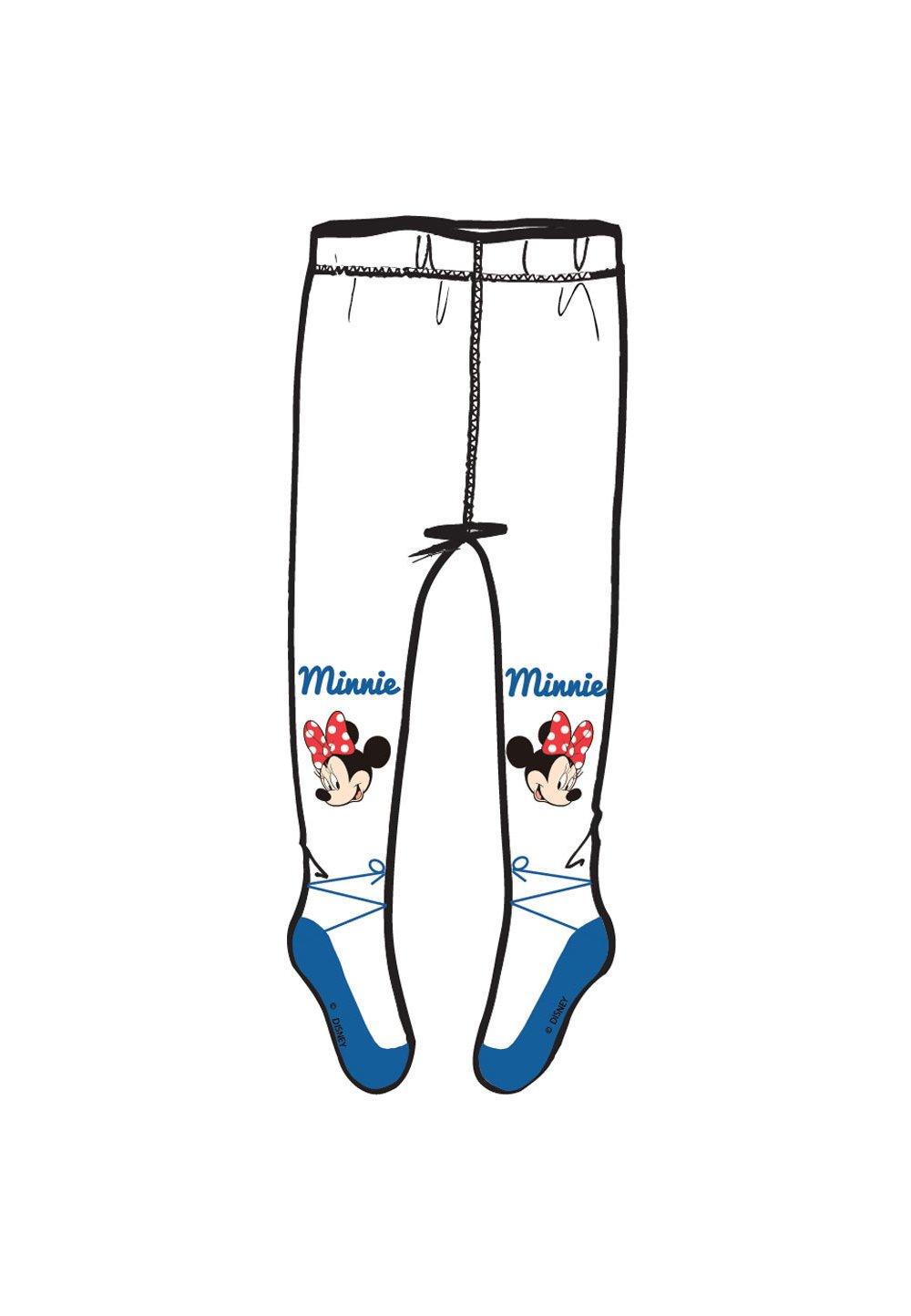 Ciorapi cu chilot, alb cu albastru, Minnie Mouse imagine