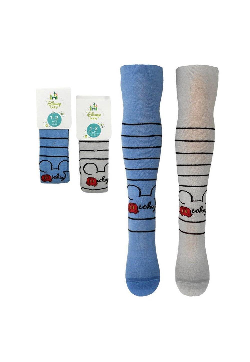 Ciorapi cu chilot, bebe, Mickey Mouse, gri imagine