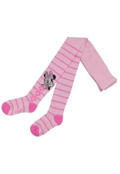 Ciorapi cu chilot, roz cu dungi, Minnie Mouse