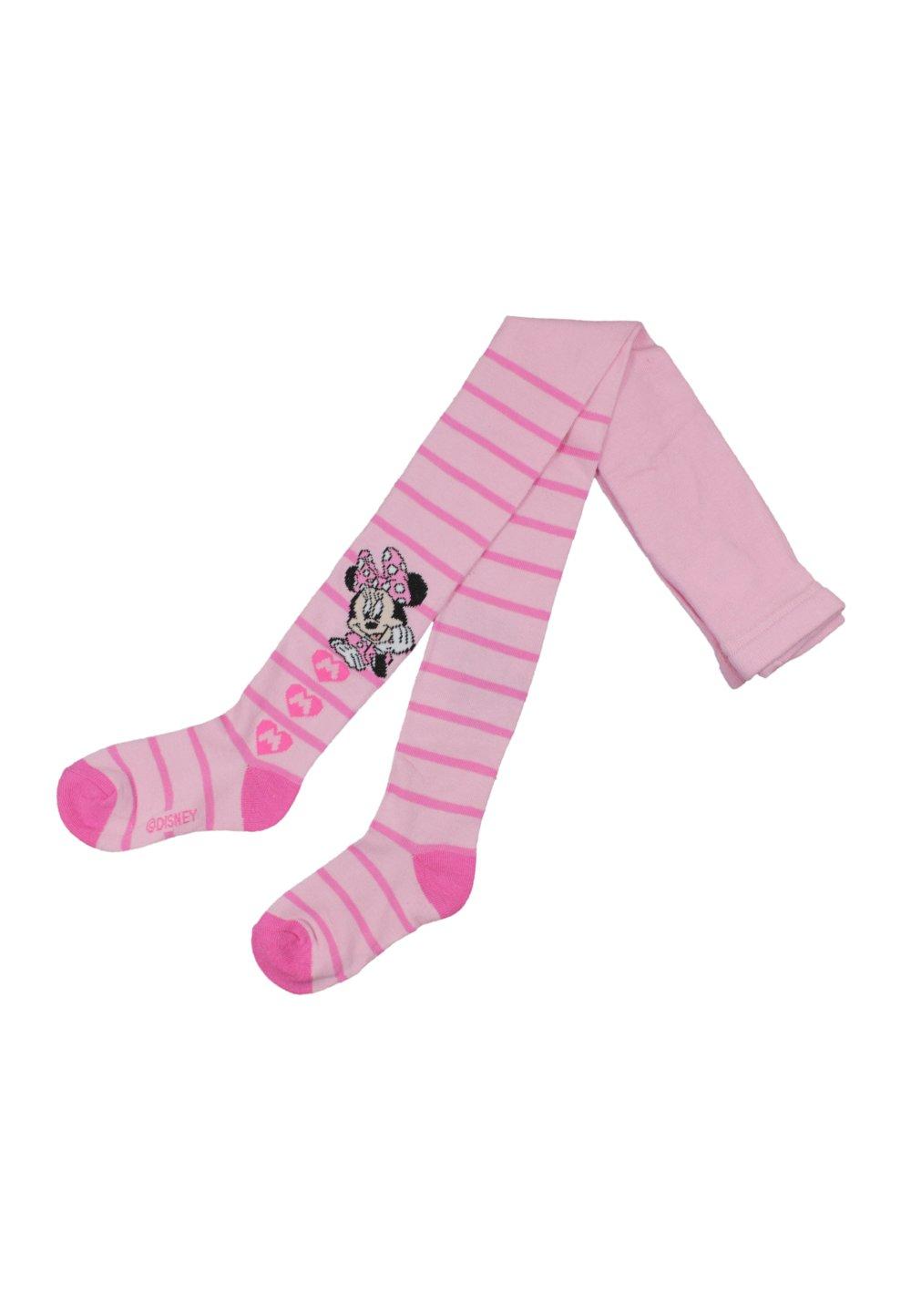 Ciorapi cu chilot, roz cu dungi, Minnie Mouse imagine