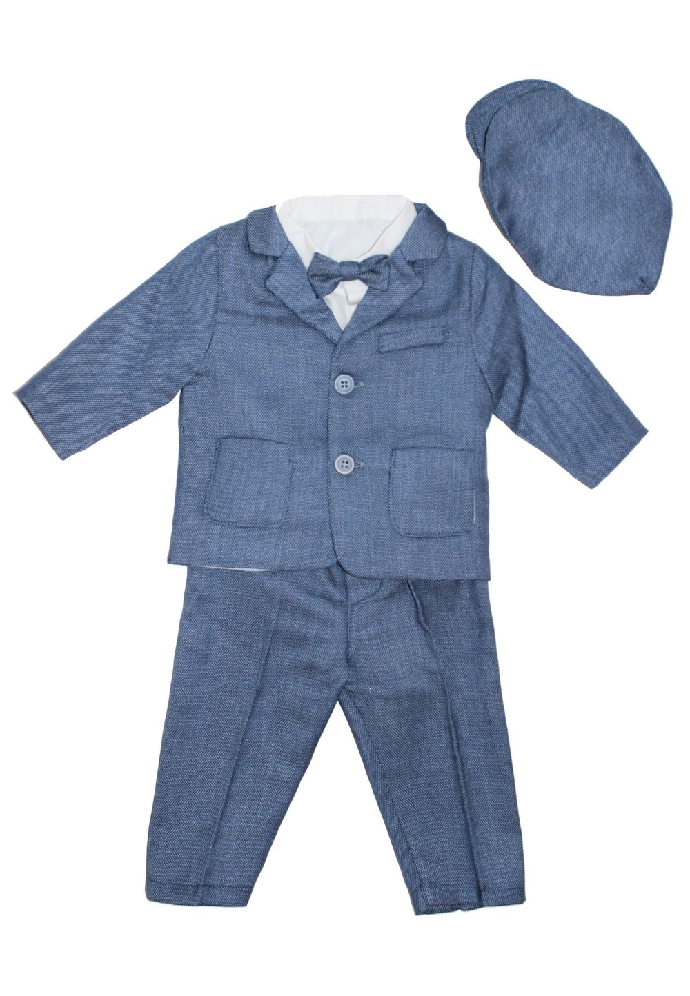 Costum botez, albastru imagine