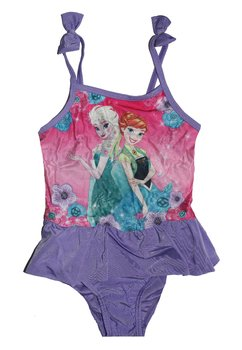 Costum de baie intreg, mov, Frozen, cu fundite