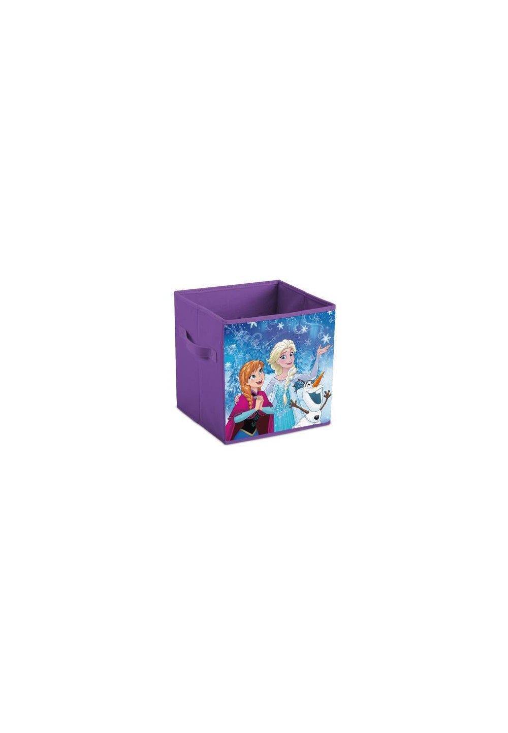 Cutie depozitare, pliabila, Anna si Elsa, mov imagine