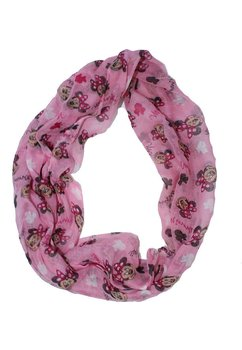 Esarfa, Minnie, roz cu alb
