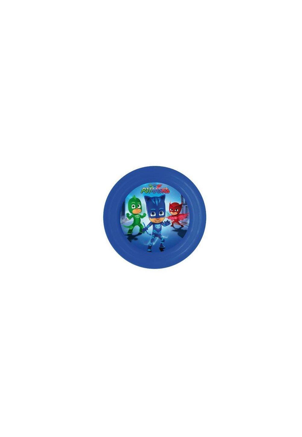 Farfurie plastic, 3D, Eroii in pijama, albastra imagine