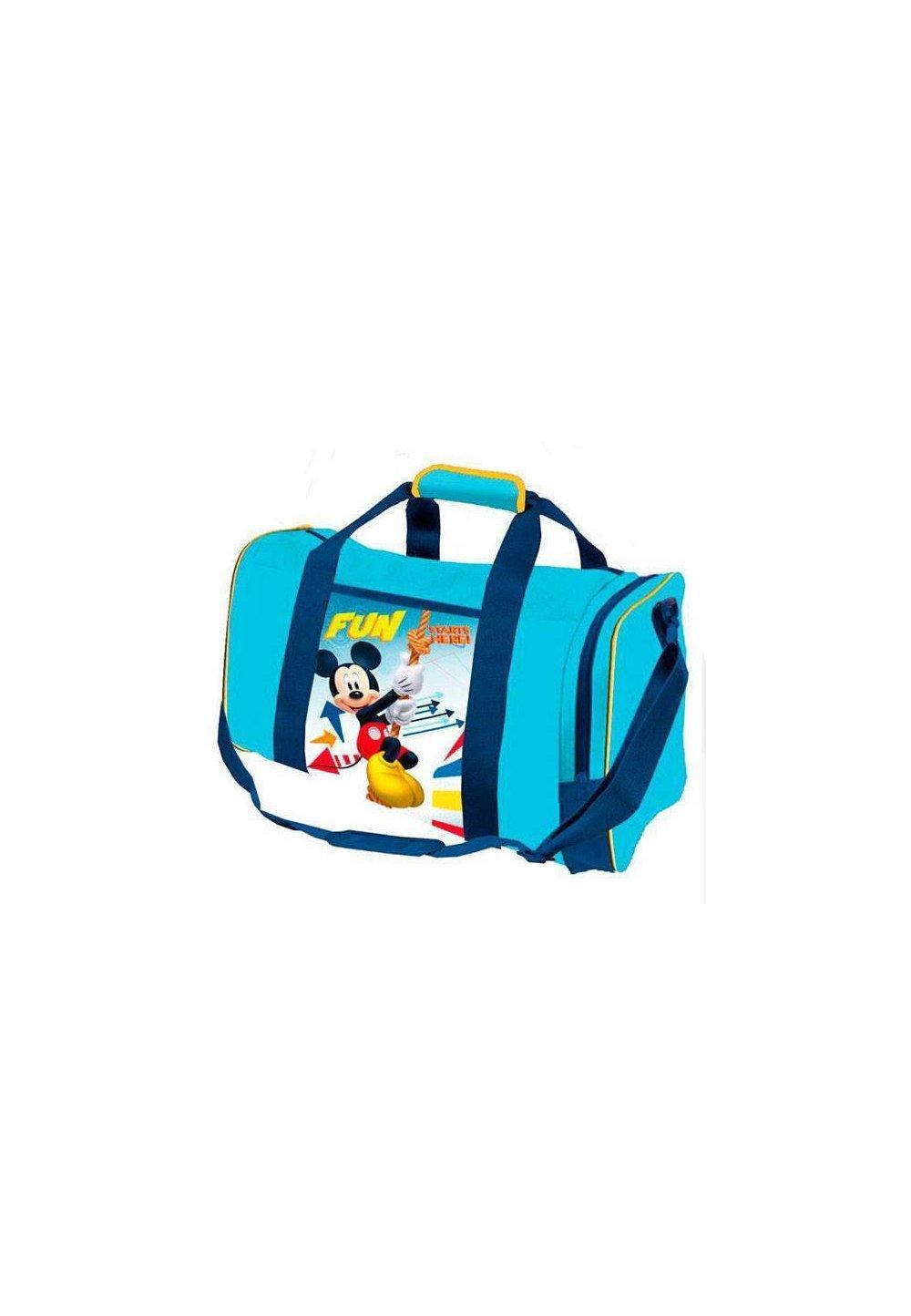 Geanta sport, albastra, Mickey Fun imagine