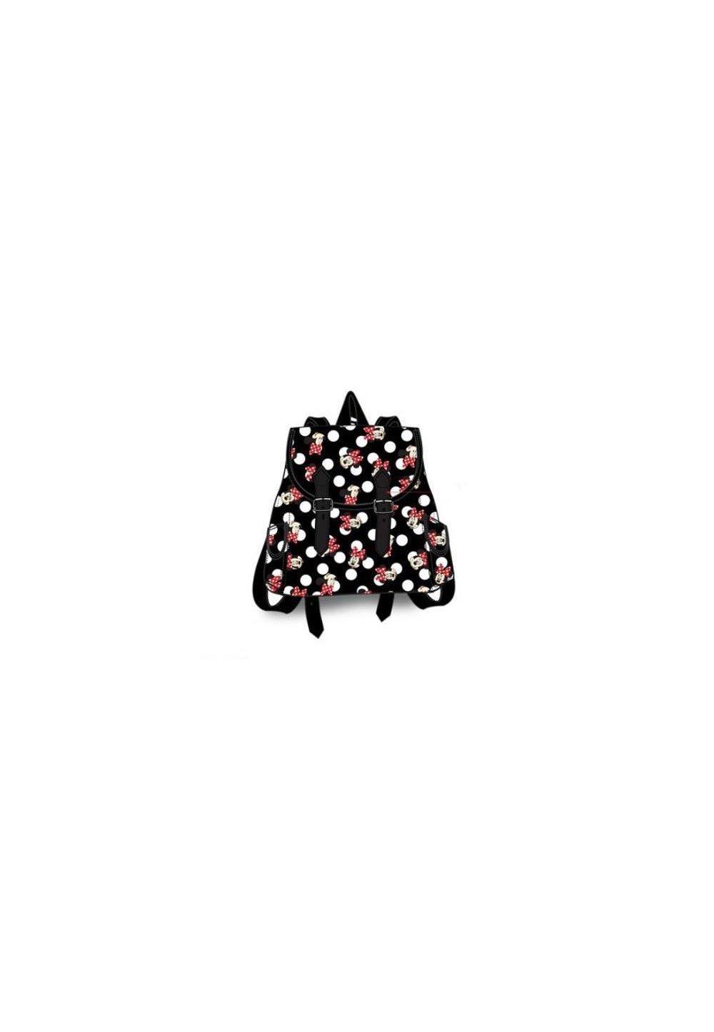 Ghiozdan, Minnie Mouse, Negru Cu Print, 25 X 19 X 9 Cm