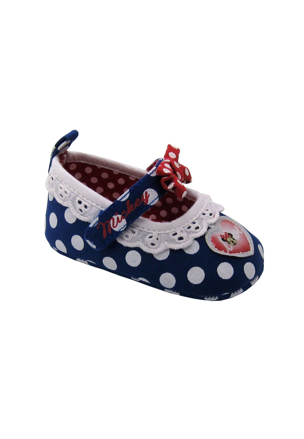 Incaltaminte bebe, albastru cu dantela, Minnie Mouse imagine