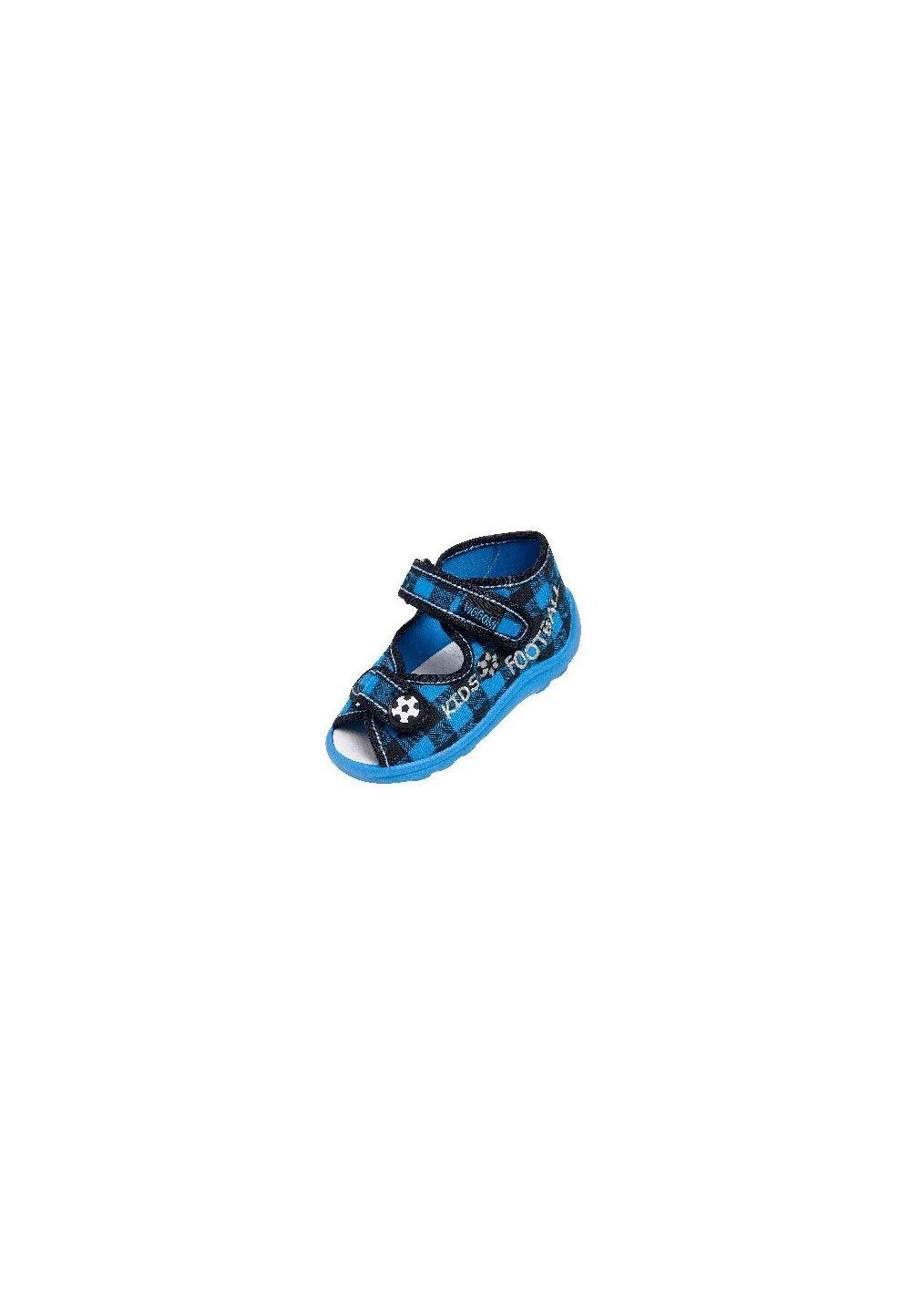 Incaltaminte panza, albastre in carouri, Karo imagine