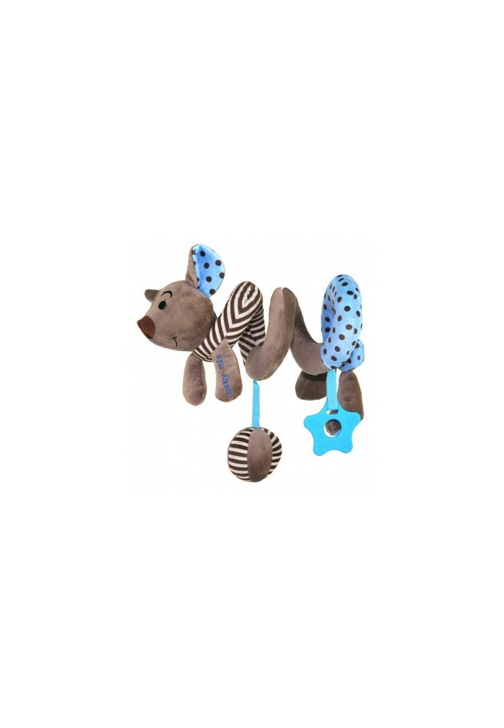 Jucarie pentru carucior spirala, soricel, albastru imagine