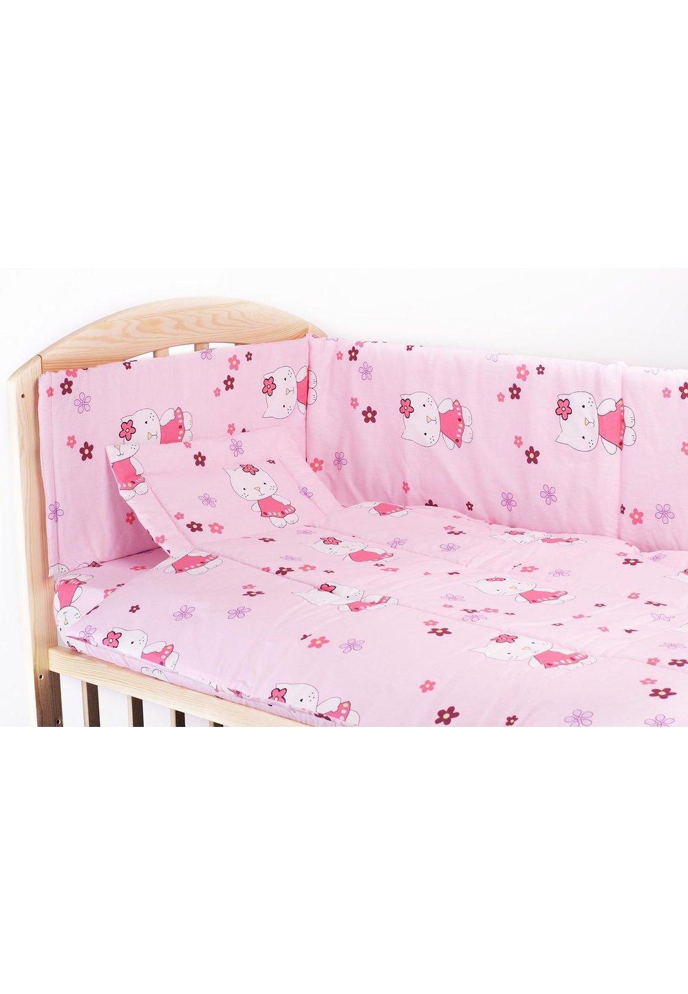 Lenjerie 4 piese kitty roz,120 x 60 cm imagine