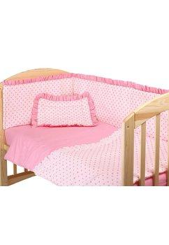 Lenjerie 5piese, roz cu stelute roz,120x60
