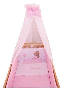 Lenjerie 6 piese, Little Bear, roz, 120x60cm