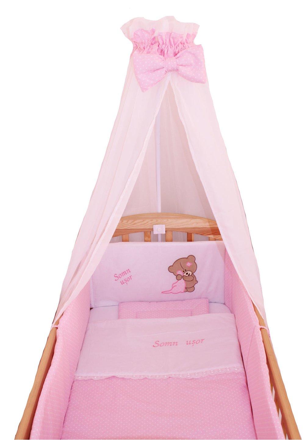 Lenjerie 6 piese, Little Bear, roz, 120x60cm imagine