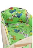 Lenjerie Mickey petrece, verde,3 piese, 120 x 60 cm