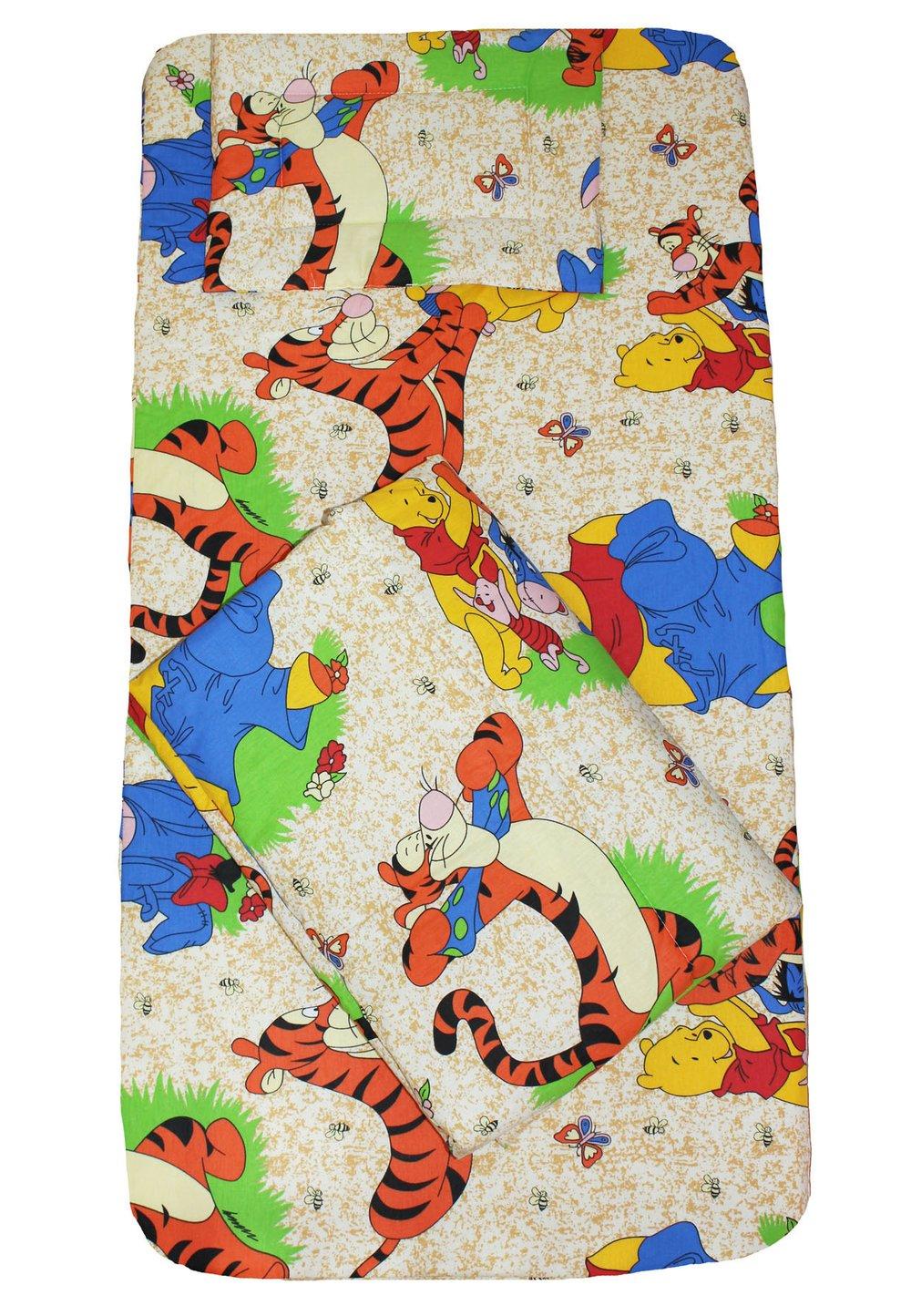 Lenjerie patut, 3 piese, Winnie si Aiurel, crem,120 x 60 cm imagine