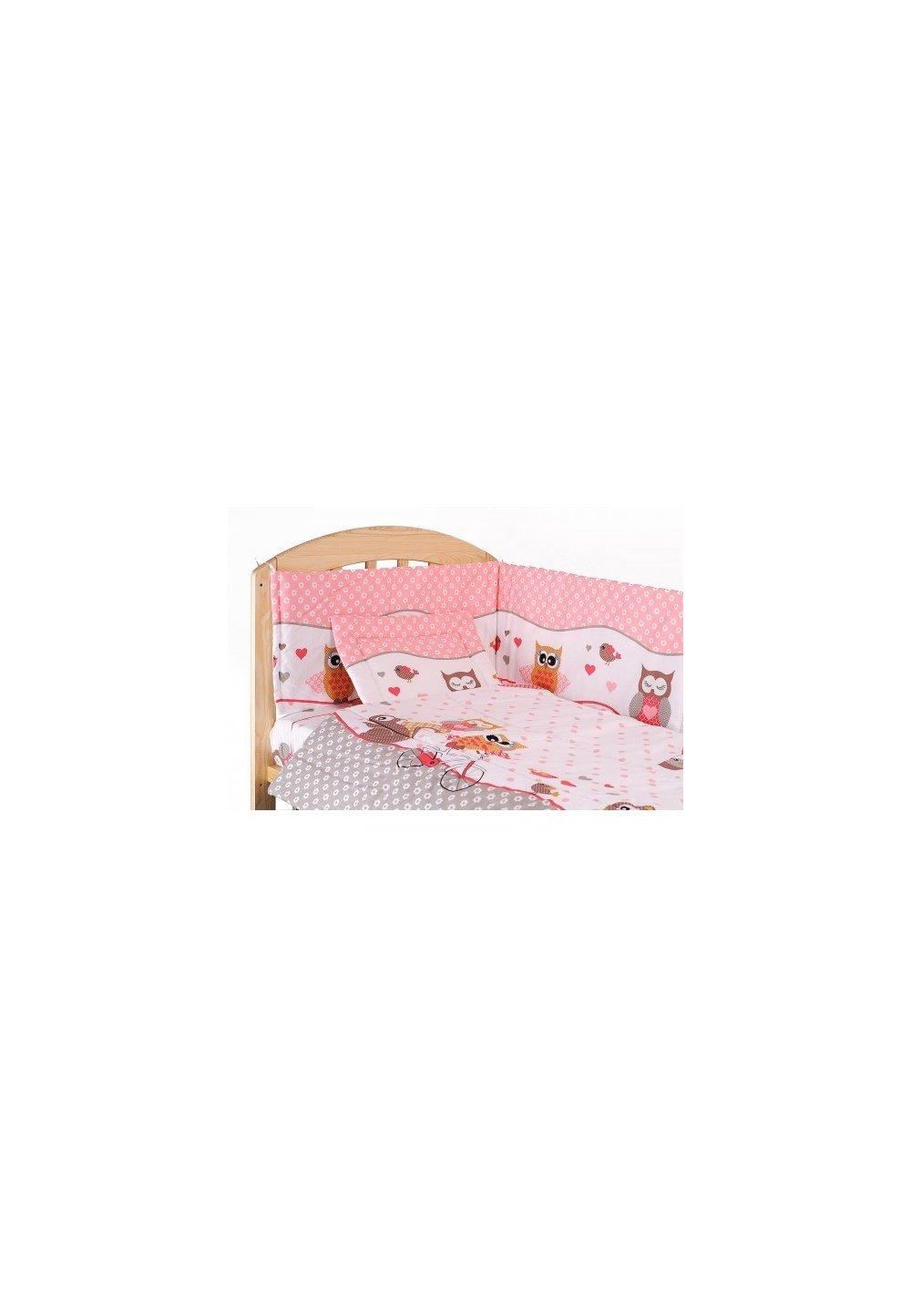 Lenjerie patut, 5 piese, Bufinite roz, 140x70 cm imagine