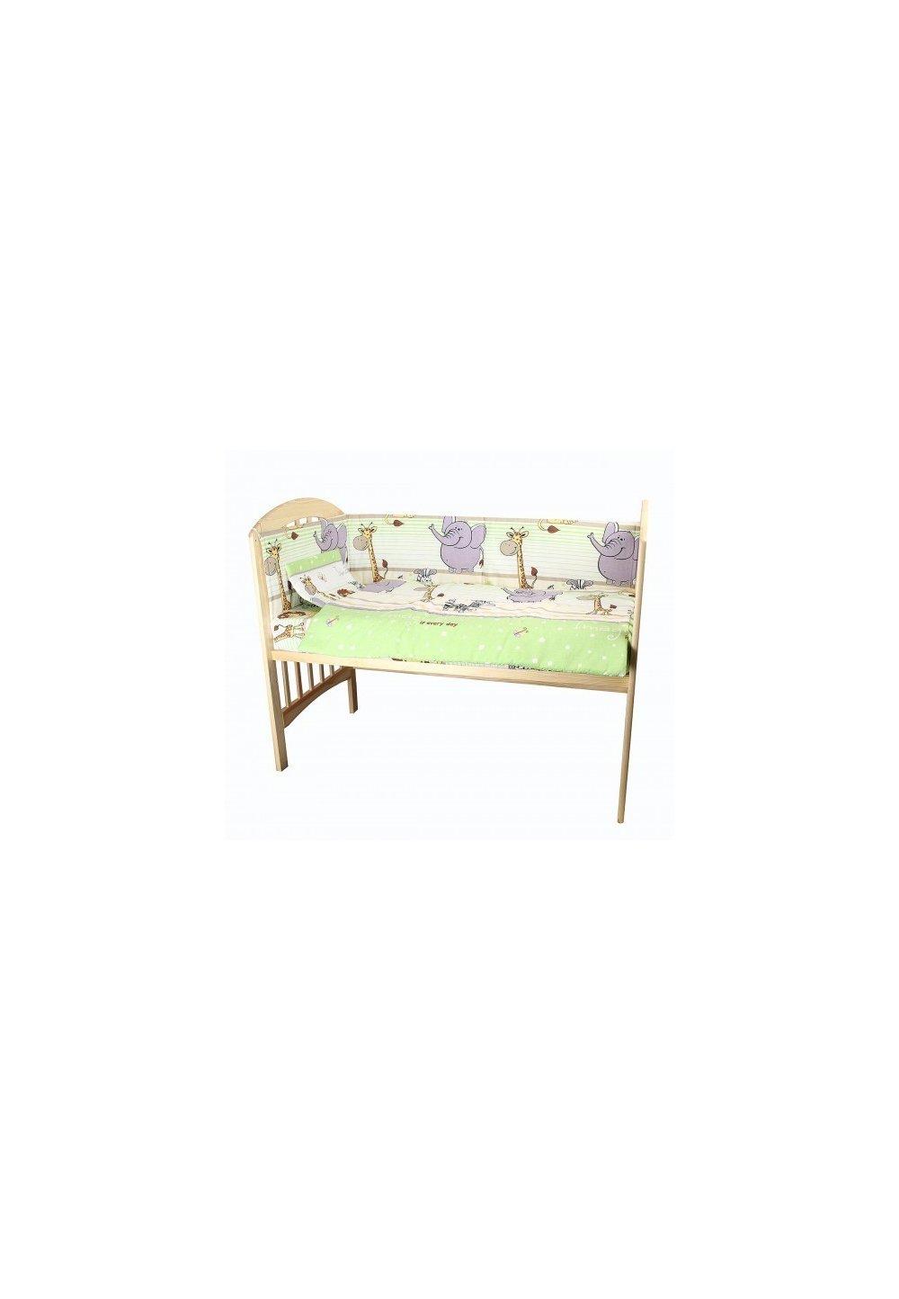 Lenjerie patut, 5 piese, Safari verde, 140x70 cm imagine