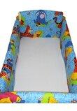 Lenjerie patut 7 piese, Maxi, Winnie si Aiurel, albastra, 120 x 60 cm