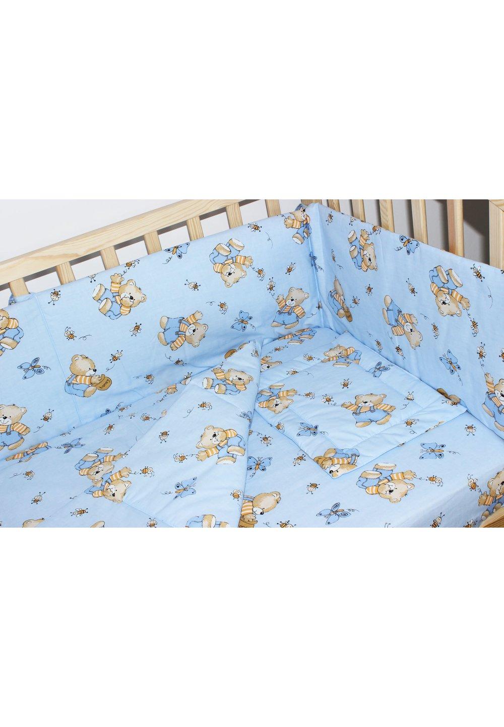 Lenjerie ursulet cu albinute albastre,3 piese imagine
