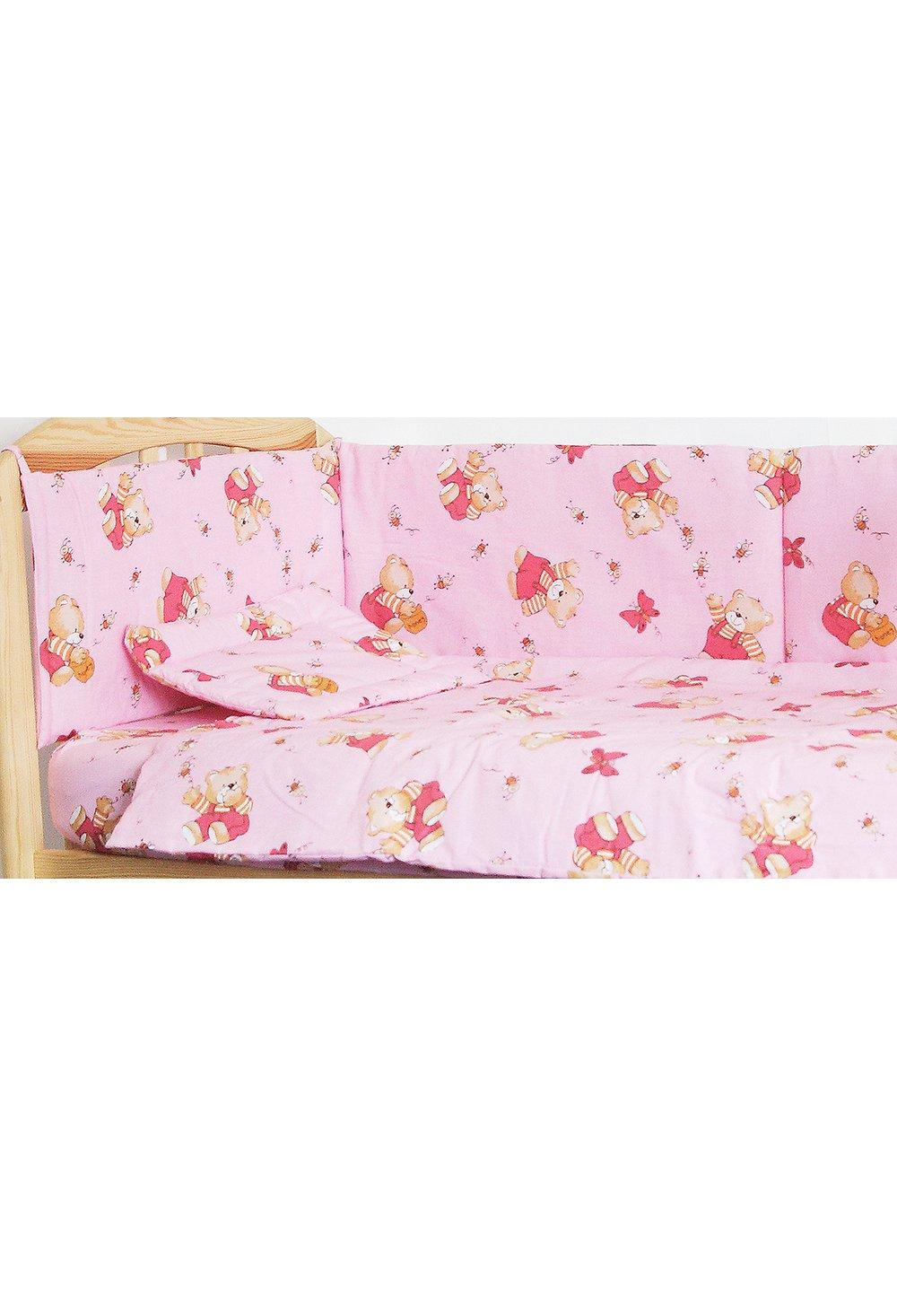 Lenjerie ursulet cu albinute roz,4 piese imagine