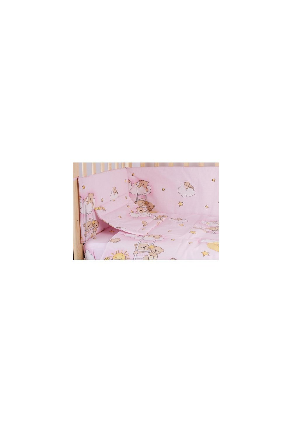 Lenjerie Ursuletul Somnoros,roz 5 Piese 140x70 Cm