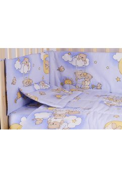 Lenjerie ursuletul somnoros albastru 4 piese