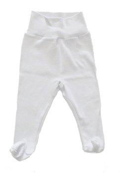 Pantaloni cu botosi alb