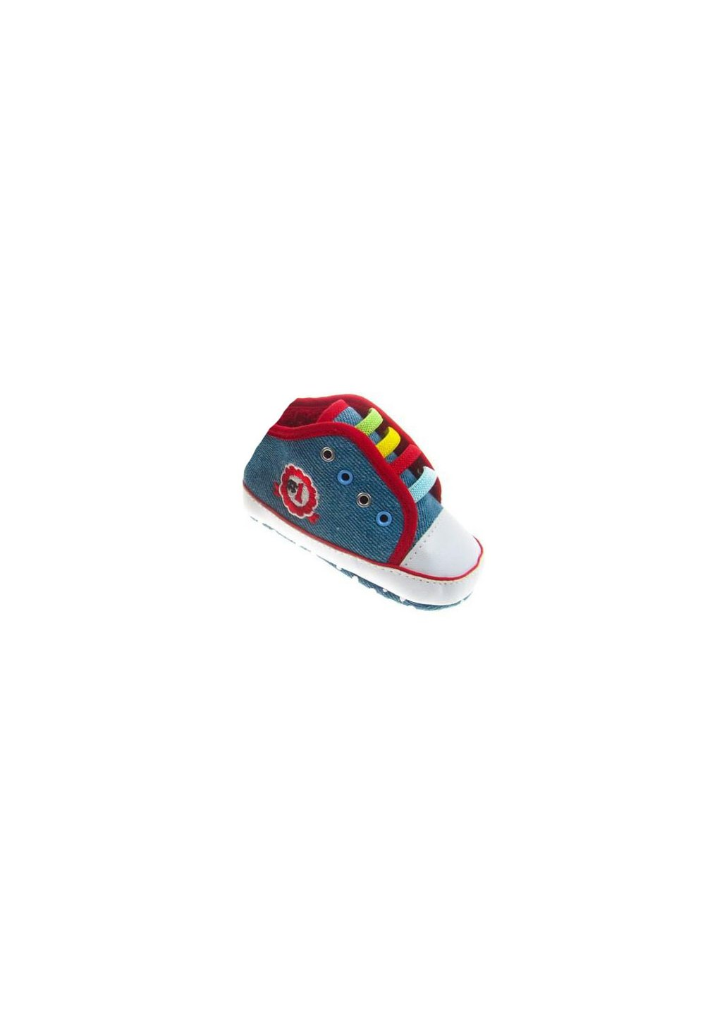 Papucei bebe din blug albastru deschis, model nr 1 imagine