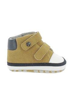 Papucei bebe, maro, cu scai