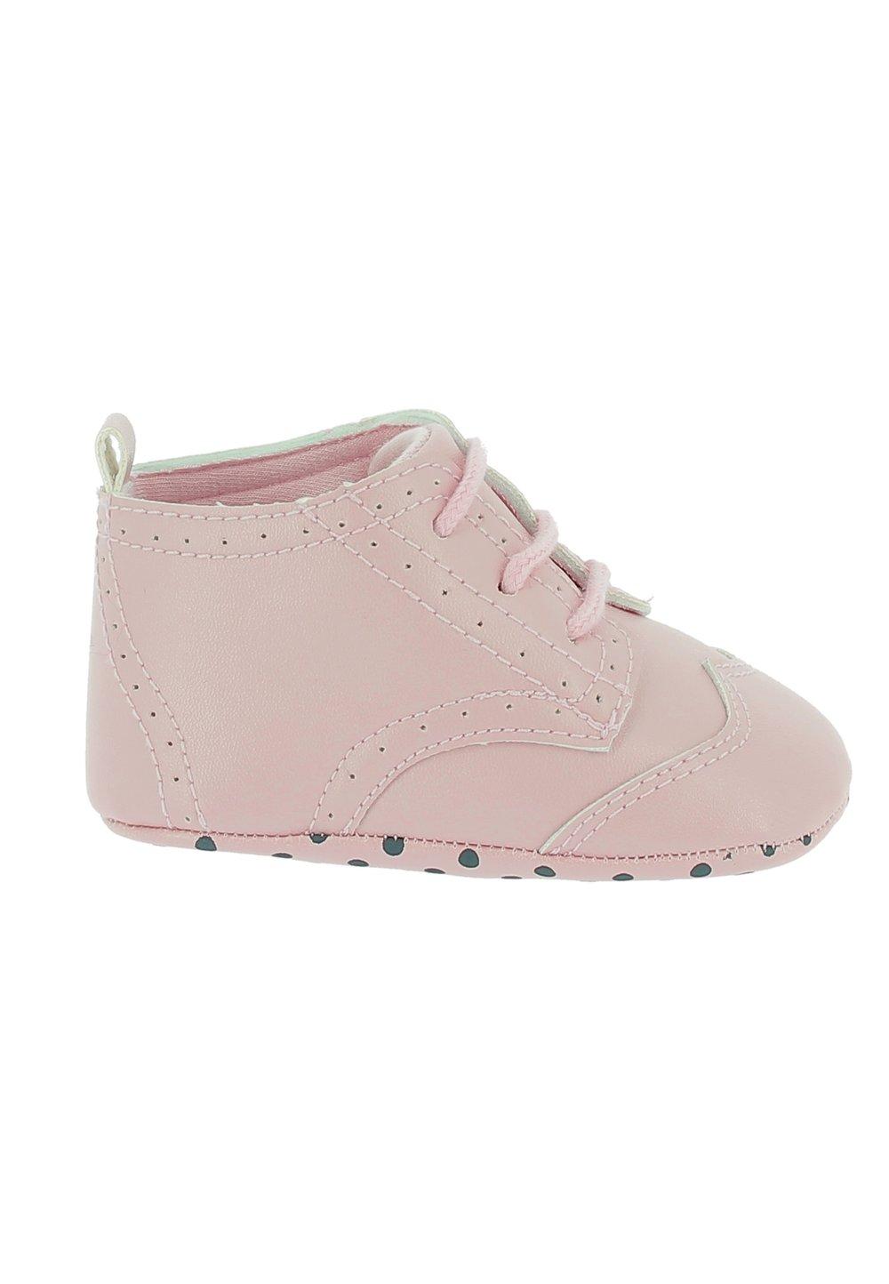 Papucei bebe, roz cu siret imagine