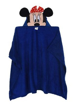 Paturica cu gluga, Minnie Mouse, albastra, 80x120cm