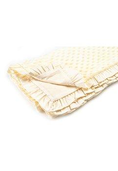 Paturica soft  botez, simpla ,cu volanase ,crem 80 x 100 cm