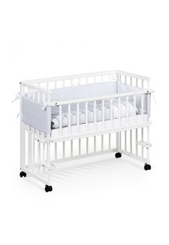 Patut bebe, lemn, Piccolo, alb, 95x45cm